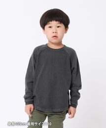 【coen キッズ / ジュニア】ガーメントダイラグランロングスリーブTシャツ