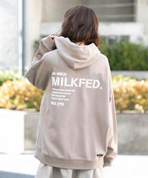MILKFED.(ミルクフェド)のBAR AND STENCIL BIG SWEAT HOODIE(パーカー)