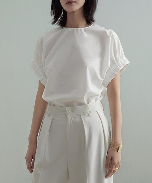 【UNSPOKEN】Gather sleeve blouse UX21S036