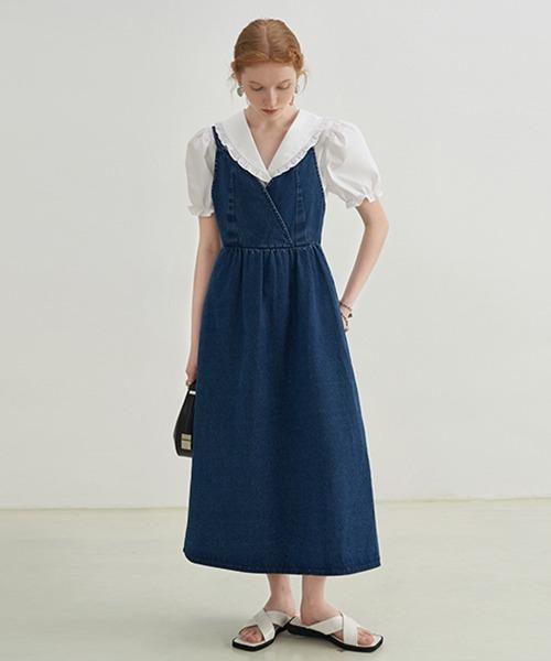 【Fano Studios】【2021SS】cachecoeur denim strap dress FX21L237