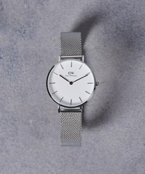 <Daniel Wellington(ダニエル ウェリントン)>PETITE WHITE 腕時計32mm†
