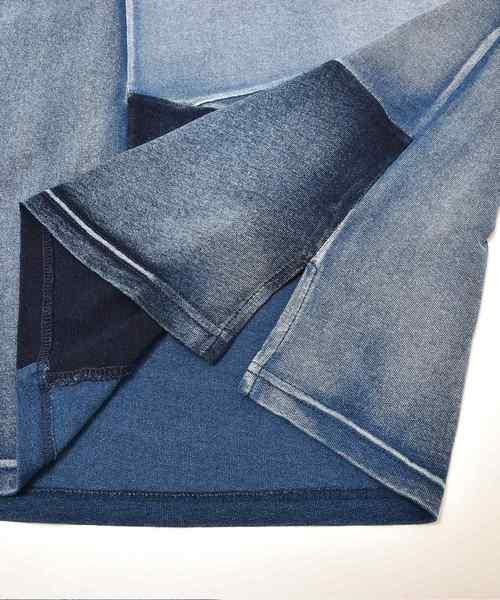 インディゴ切替Tシャツ Tシャツ メンズ 半袖Tシャツ