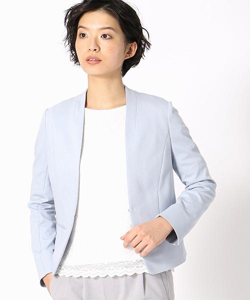 印象のデザイン <日本素材>ノーカラー ジャージー COMME ジャージー CA ジャケット(ノーカラージャケット)|COMME CA ISM(コムサイズム)のファッション通販, おふぃすらぼ:6a01d448 --- 5613dcaibao.eu.org