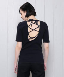 <R JUBILEE>BACK LACE UP TOPS/カットソー. ◆