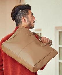 Neo PU leather Tote Bag / ビッグ トートバッグベージュ