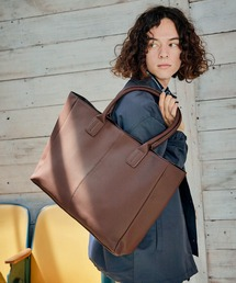Neo PU leather Tote Bag / ビッグ トートバッグブラウン