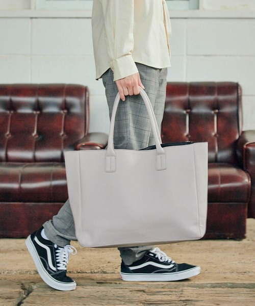 Neo PU leather Tote Bag  ネオレザービッグ トートバッグ