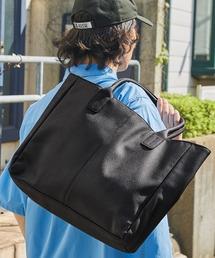 Neo PU leather Tote Bag / ビッグ トートバッグブラック