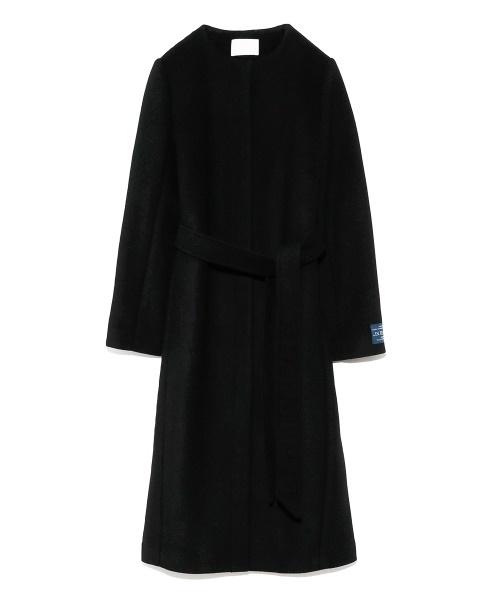 大人の上質  ベルト付きノーカラーコート, ベーカリーてぃす a209fc7b
