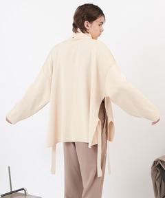 サイドスリットムスビ 畦タートルネックニットプルオーバー(EMMA CLOTHES)2020AW