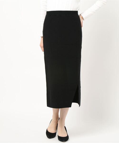 TONAL(トーナル)の「サイドスリットニットスカート(スカート)」|詳細画像
