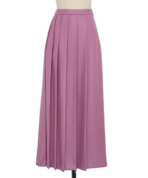 Drawer ウールツイルフロントプリーツスカート