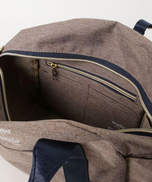 anello/高密度杢調ポリエステルミニボストンショルダーバッグ