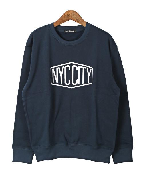 裏起毛NYC CITYロゴトレーナー