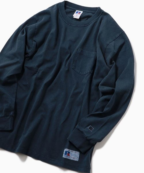 RUSSELL ATHLETIC×SHIPS: 別注 ユーズド加工 ロングTシャツ 19SS□