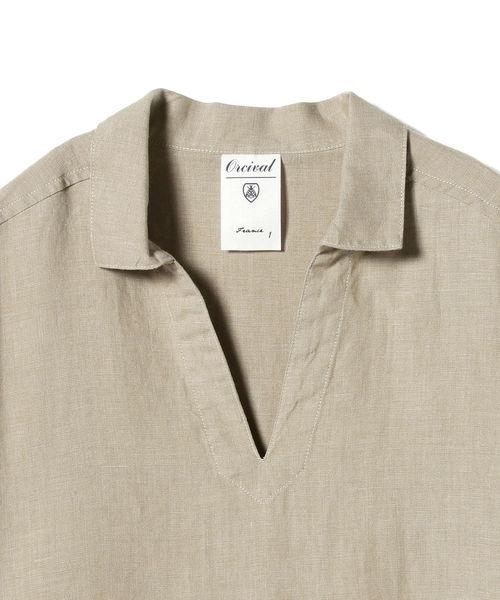 ORCIVAL / リネン スキッパーシャツ <WOMEN>