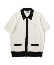 FRED PERRY x MILES KANE BUTTON THROUGH KNITTED SHIRT
