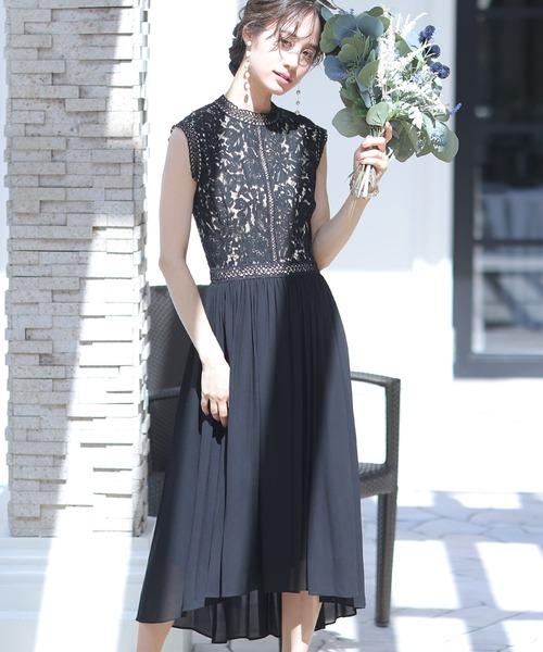 ヴィンテージライクレースドレス・結婚式・お呼ばれワンピース・パーティードレス