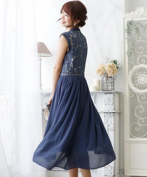 ワンピースヴィンテージライクレースドレス·結婚式·お呼ばれ