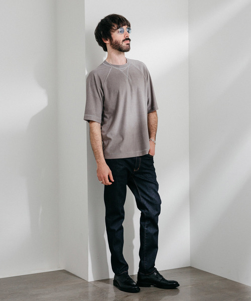 シルキータッチパイルクルーネックTシャツ