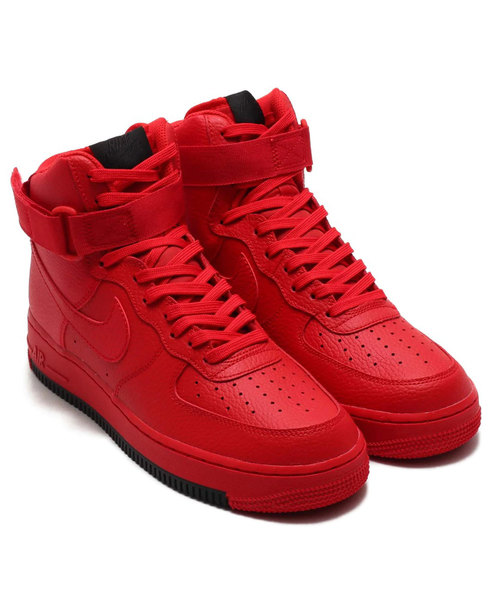 new styles 37799 5bbd8 NIKE AIR FORCE 1 HIGH '07 1 (UNIV RED/UNIV RED-BLACK) atmos EXCLUSIVE【SP】