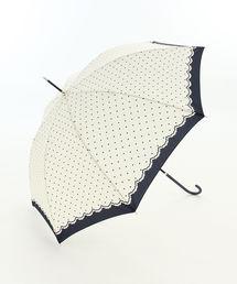 Afternoon Tea(アフタヌーンティー)のシンプルドット長傘 雨傘(長傘)