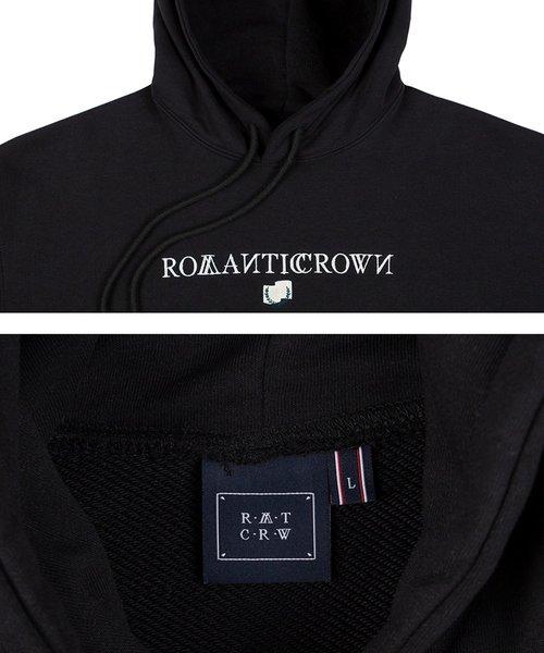 ROMANTIC CROWN(ロマンティッククラウン)の「『ROMANTIC CROWN』シンプルロゴプルオーバーパーカー/フーディー(パーカー)」|詳細画像