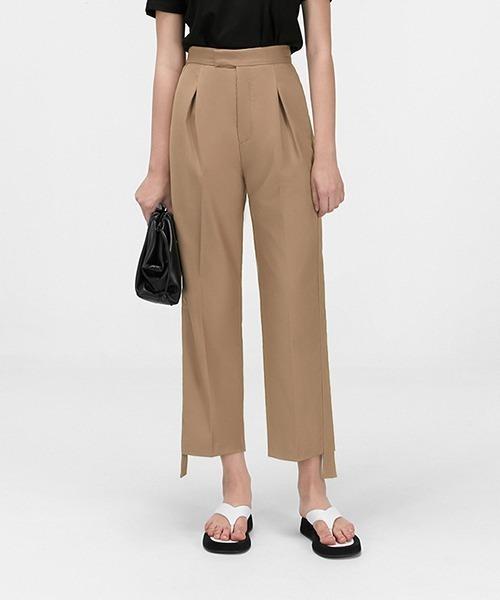【chuclla】【2021/SS】Cropped tuck pants chw1532