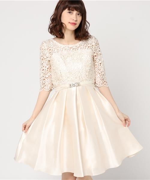 一流の品質 【セール】コードレース切り替えデコルテシアータックフレアーワンピースドレス ビジュー使いサッシュベルト付き(ドレス) Luxe|Dorry Doll(ドリードール)のファッション通販, ZonzonTec:28853023 --- 5613dcaibao.eu.org