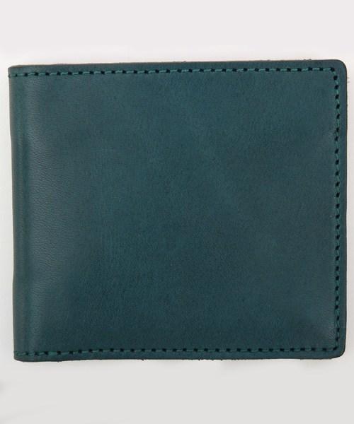 8(eight)(エイト)の「栃木レザー 二つ折り財布 短財布 本革レザー(財布)」 ネイビー