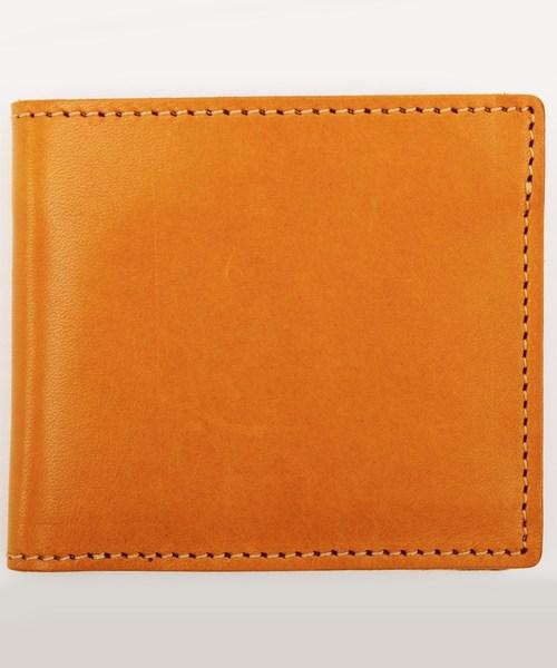 8(eight)(エイト)の「栃木レザー 二つ折り財布 短財布 本革レザー(財布)」 キャメル