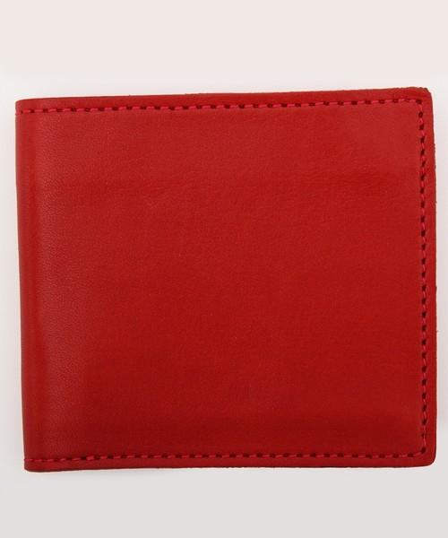 8(eight)(エイト)の「栃木レザー 二つ折り財布 短財布 本革レザー(財布)」 レッド
