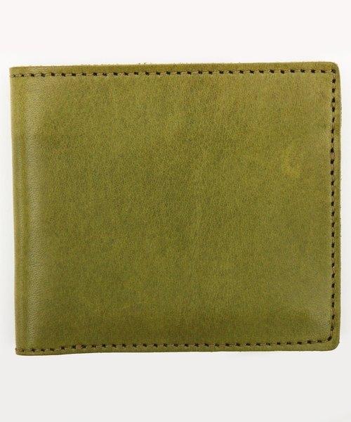 8(eight)(エイト)の「栃木レザー 二つ折り財布 短財布 本革レザー(財布)」 カーキ