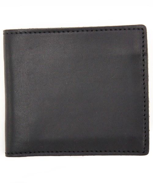 8(eight)(エイト)の「栃木レザー 二つ折り財布 短財布 本革レザー(財布)」 ブラック