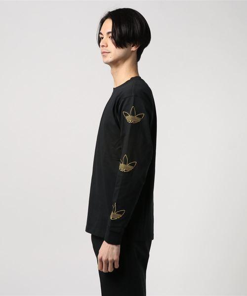 adidas Originals TREFOIL LS TEE (ブラック/ボールドゴールド)