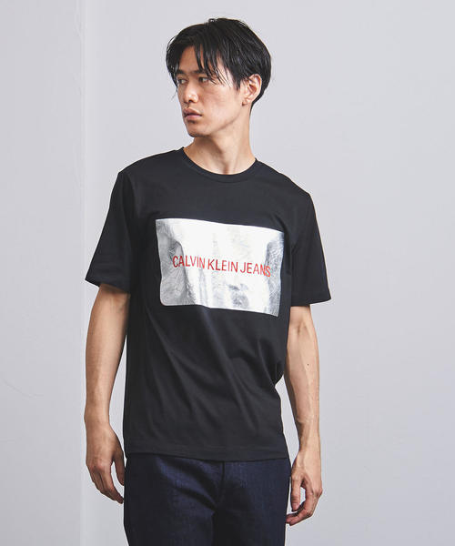 <Calvin Klein Jeans(カルバン・クライン ジーンズ)> シルバー ボックス  カットソー