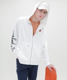 Mark Gonzales/マークゴンザレス EMMA CLOTHES別注 ジップアップパーカーホワイト