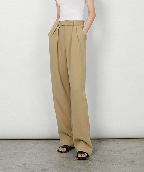 【chuclla】【2021/SS】High waist 2tuck pants chw1533