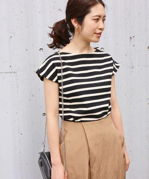 IENA(イエナ)の古着「半袖カットソー(Tシャツ/カットソー)」|ブラック