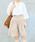 AS KNOW AS PINKY(アズノゥアズピンキー)の「☆ZOZO限定☆キュロットハーフパンツ(パンツ)」|ベージュ
