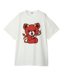 DEVIL BEAR オーバーサイズTシャツホワイト