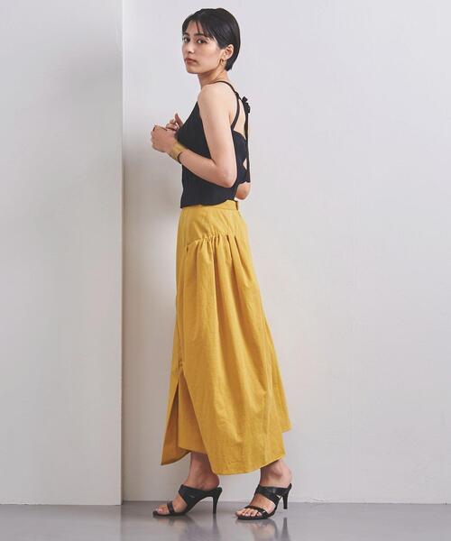 <AKIRA NAKA(アキラ ナカ)>アシンメトリー ギャザースカート ■■■