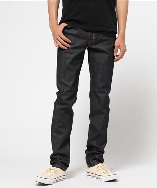 RIGID DENIM STRAIGHT PANTS