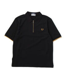 FRED PERRY x MILES KANE ZIP DETAIL PIQUE SHIRT