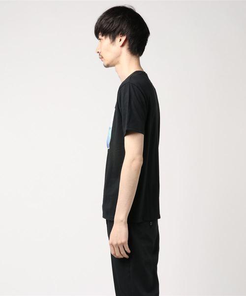 3Dメッシュフォト&ロゴプリントTシャツカットソー