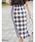 &. NOSTALGIA(アンドドットノスタルジア)の「リネン混ブロックチェックラップタイトスカート(スカート)」|詳細画像