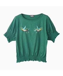 HYS BIRD刺繍 プルオーバーグリーン