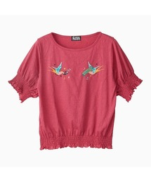 HYS BIRD刺繍 プルオーバーマジェンタ