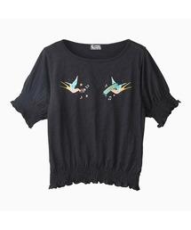 HYS BIRD刺繍 プルオーバーブラック