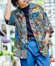 KANGOL/カンゴール 別注 ロゴ刺繍 ビッグシルエット 柄シャツ 総柄 オープンカラーシャツ アロハシャツ 2021SUMMERその他2